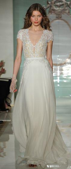 wedding dress, Reem Acra
