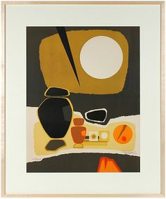 Guause's Goldenrod Geometric Mid Century Abstract (silkscreen)