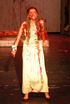 North Farmington Hills production of the musical Carrie had buckets of blood, but it focused more on the social and emotional affects of bullying, as opposed to being a gorefest.