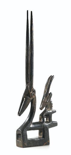 Bamana Chi Wara (Female Vertical Antelope) Headdress, Mali http://www.imodara.com/post/96464607469/mali-bamana-chi-wara-antelope-headdress