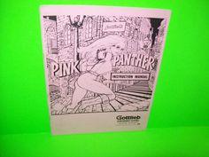 Gottlieb PINK PANTHER 1980 Original Pinball Machine MANUAL w/ Schematics Scarce #Gottlieb #PinkPanther #Pinball