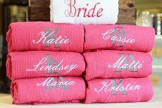 Bridesmaid Robes Bridal Party Waffle Weave Robe Bridesmaids