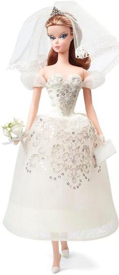 Barbie Bridal, Barbie Wedding Dress, Wedding Doll, Bridal Dresses, Wedding Gowns, Ivory Wedding, Mattel Barbie, Barbie Vintage, Chic Chic