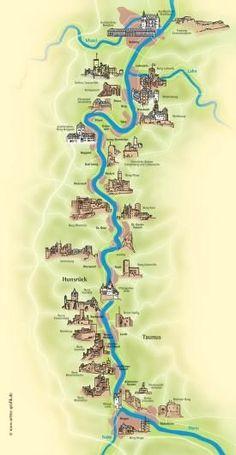 The Rhine River Castles in Germany...most unbelievable drive! Germany Travel Acceda a nuestro blog encuentre mucha más información http://storelatina.com/germany/travelling #germanytravel #Alemanha #Alemanhatravel #viagemgermany