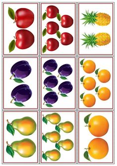 "Didakmicheskaya game ""dva-pyam"" Source by Preschool Education, Kindergarten Activities, Teaching Kids, Vegetable Crafts, Fruits Images, Montessori Math, Food Themes, Kids Cards, Fruits And Vegetables"