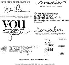 Technique Tuesday - Clear Acrylic Stamps - Favorite Memories by Ali Edwards Ali Edwards, Scrapbook Quotes, Scrapbook Pages, Scrapbook Stickers, Project Life Scrapbook, Tampons Transparents, Workshop, Recipe Scrapbook, Card Sayings