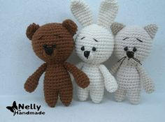 Amigurumi Little Cat,Bunny and Bear-Free Pattern