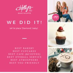Thank you so much! We won! #kellystribe #treatingyouwell #bakingyouhappy #kellyanderinn