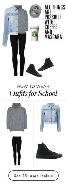 """""""The coffee addict ☕️"""" by seals23 on Polyvore featuring Wolford, Yves Saint Laurent, 3x1, Converse and Element"""