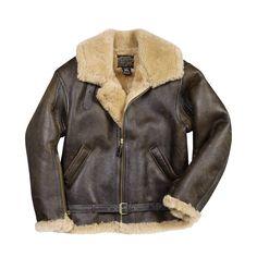 R.A.F. Sheepskin Bomber Leather Jacket