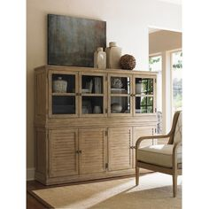 Monterey Sands Palo Alto Louvered Door Stacking Unit Base with Sausalito Glass Door Stacking Top Unit by Lexington at Baer's Furniture Lexington Furniture, Hudson Furniture, Living Room Furniture, Home Furniture, Furniture Ideas, Kitchen Furniture, Shaker Furniture, Furniture Websites, Furniture Market