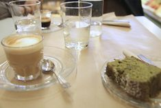 Best way to begin a day in the Marais ? Rose Bakery's green tea cake or the pistachio one and a good coffee | Paris