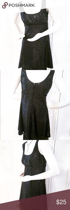 """SALE $$❗️Betsy & Adam Little Black Dress Betsy & Adam short cocktail dress with a muted sequin pattern. Style it with red lips, bold earrings, and your favorite pair of stilettos. Size 7. 33.5"""" from shoulder to hem. Betsy & Adam Dresses"""