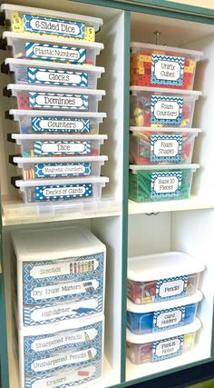 OH.MY.GOSH. I love this teacher's bins for math and school supplies. So awesome!