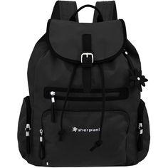 Sherpani Women's Tivoli Backpacks ($72) ❤ liked on Polyvore featuring bags, backpacks, accessories, black, bolsas, luggage & bags backpacks, black backpack, black nylon bag, nylon bag and black bag