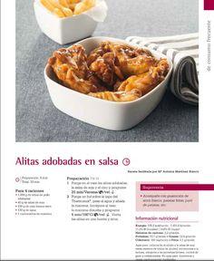 Alitas adobadas en salsa