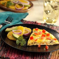 Huevos Rancheros Frittata A leaner version of this classic egg dish made with turkey sausage, Egg Beaters, cheese and tomato Healthy Meal Prep, Healthy Cooking, Low Carb Recipes, Healthy Recipes, Huevos Rancheros, Egg Beaters, Frittata Recipes, Egg Dish, Food Obsession