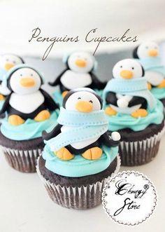 Penguin cupcakes!!
