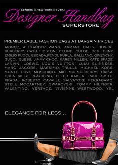 Elegance for Less...Premier Label Designer Bags at Bargain Prices