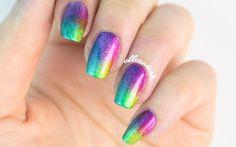 Rainbow Quartet Chrome Nails   by elleandish