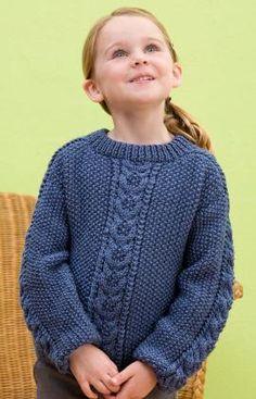 Saddle Shoulder Pullover Knitting Pattern | Red Heart