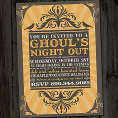 ghouls night out invitation