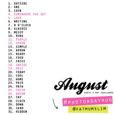 photo challenge august - Google Search