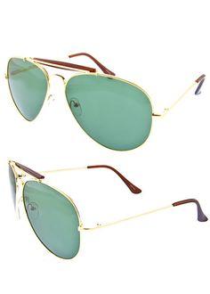 895769f5c2a Classic Designer Inspired Aviator Style Gold Brown Statement Fashion  Sunglasses  Aviator Uv400 Sunglasses