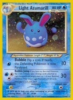 Pokemon - Light Azumarill (13) - Neo Destiny - Holo ** This is an Amazon Affiliate link. Check this awesome product by going to the link at the image.