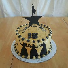 #Hamilton cake, buttercream and sugar paper. Spray gold and several glitters. Hand cut shimmer card stock topper.