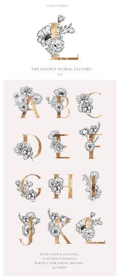 Awakening Floral Graphics & Letters by Laras Wonderland on @creativemarket