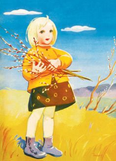 Such a cute and colourful children's illustration from the Finnish Martta Wendelin, one of my favourite illustrators! Encaustic Art, Children's Book Illustration, Cartoon Images, Christmas Art, Atc, Art Images, Martini, Vintage Art, Illustrators