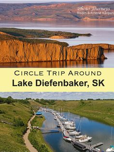 Explore Lake Diefenbaker on an exciting Saskatchewan road trip around the lake. Visit photogenic spots, do some fishing, hiking or boating, and visit three provincial parks. Travel Route, Travel List, Lakeside Park, Saskatchewan Canada, Canada Travel, Canada Tourism, Adventure Is Out There, Places To See, Travel Destinations