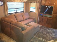 RV.Net Open Roads Forum: Travel Trailers: Sofa Mod.   The living room I've been looking for