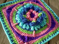 Water Lily Afghan Square ~ free pattern ᛡ (and color inspiration) ✿⊱╮Teresa Restegui http://www.pinterest.com/teretegui/✿⊱╮