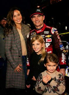 Jeff Gordon & family after his win at Martinsville (2015)