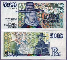 Graphic Design Class Assignment Inspiration: Icelandic Kronor