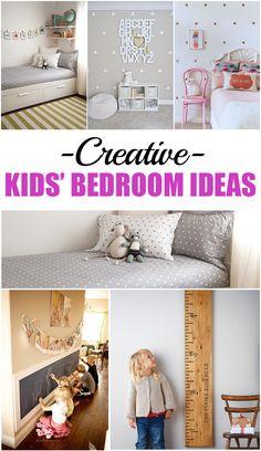 Creative Kids' Bedroom Ideas.  Fun ways to decorate kids' bedrooms.  Design ideas and tutorials.