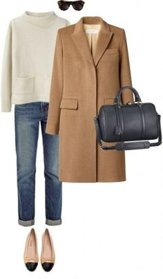 Outfit set con camel coat