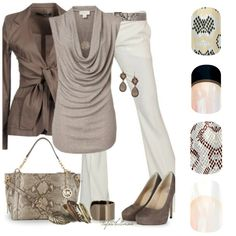 Light brown blouse, white pants, brown jacket, brown pumps, trapeze bag and belt… – Work Fashion Brown Jacket, Brown Blazer, Mode Outfits, White Pants, Cream Pants, Black Pants, Looks Style, Mode Inspiration, Mode Style