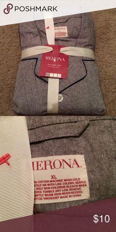 Pajama set long sleeve Brand-new extra large in size Merona Intimates & Sleepwear Pajamas
