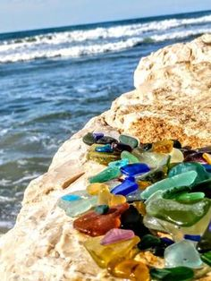 Glassy Bliss:   ~ sea glass contest photo was submitted by Deb E., Central Maryland Where was this photo taken? Taken in beautiful Tel Aviv Israel on the Mediterranean