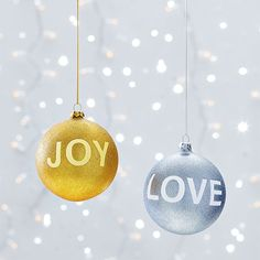 Word Ornaments Clinton Kelly