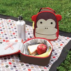 Skip Hop Monkey Zoo Lunchies Insulated Lunch Bag