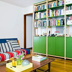 Strive for versatility: In a small space, make furniture do double--or even triple--duty.