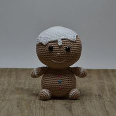 MR. GINGERBREAD  _ Happy sunday everyone. And apparently I was a bit tired this morning when I was sending out the newsletter. Of course it's not the 2nd of advent  #crochet#amigurumi#crochetchristmas#littlehappychristmas#littlehappycrochet