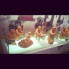 China Pavilion. Representations of the life of ancient China in baked clay