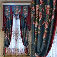美式乡村亚麻棉麻高档韩式欧式田园客厅卧室时尚窗帘纱定制泰瑞莎