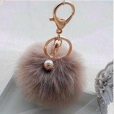 4e6abfdbe9cc5 US  2.99  Hot Sales chaveiro keychain fur pom pom key chain Faux Rabbit  Hair Bulb Bag Car Ornaments Fox fur Ball Pendant Key Ring GCF 006-in Key  Chains from ...