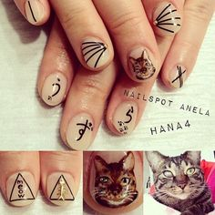 Cats + nails ? Now I can die happy.